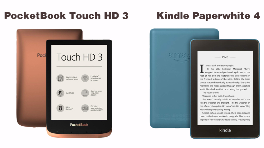 So sánh PocketBook Touch HD 3 và Kindle Paperwhite 4