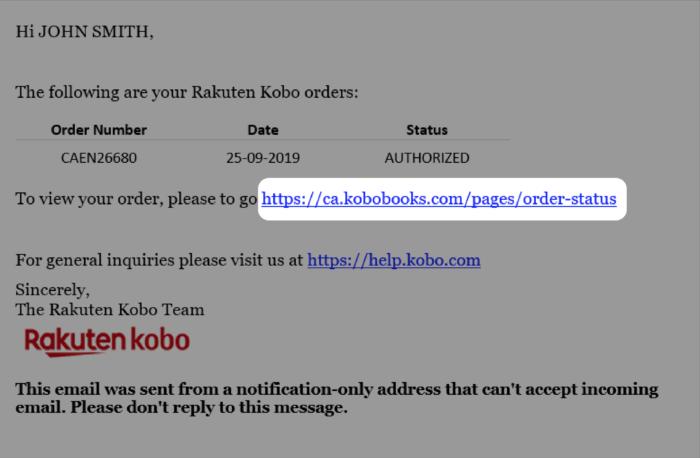 xác minh tài khoản trên máy đọc sách Kobo Clara Hd